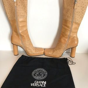 🔥Gianni Versace Vintage 90's Tall Boots👢